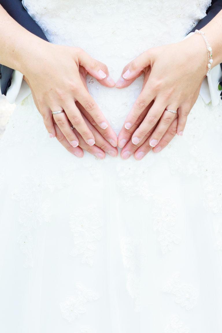 Hochzeitsfotografie Herz mit Händen